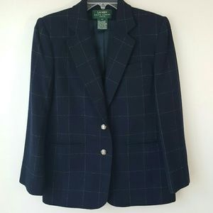 Lauren by Ralph Lauren Navy Wool Blazer-6P
